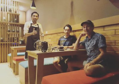 Owner & Customers - Papilas Coffee House